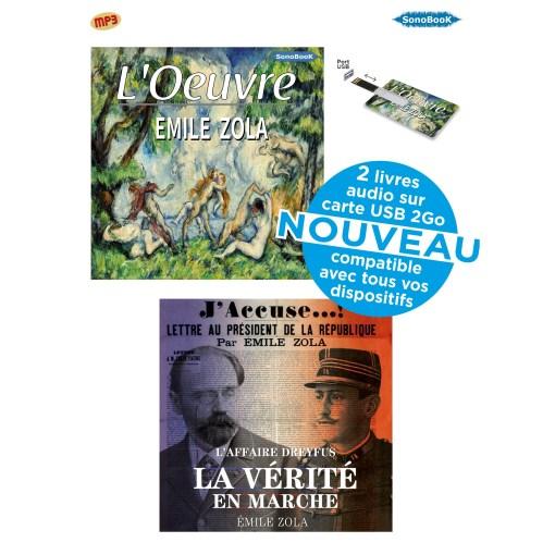L Oeuvre J Accuse Coffret Usb Livres Audio Emile Zola De